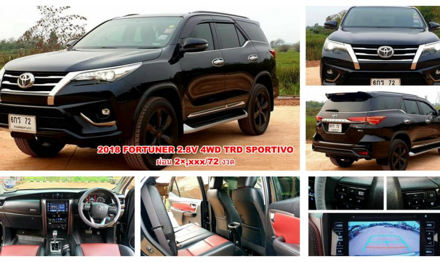 2018 TOYOTA  FORTUNER 2.8V 4WD TRD SPORTIVO